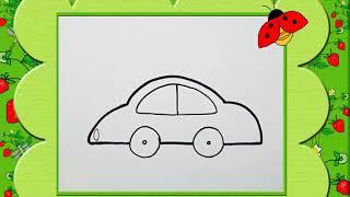 Bé tập vẽ ô tô