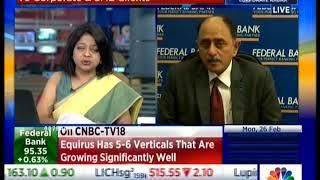 Watch Mr. Shyam Srinivasan, MD & CEO Federal Bank on CNBC TV18