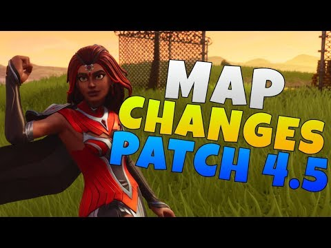 Map Changes Coming To Fortnite Battle Royale | Fortnite Battle Royale Patch 4.5