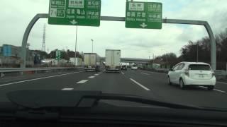 京滋バイパス・瀬田東JCTから、新名神・草津JCTへの乗り継ぎ