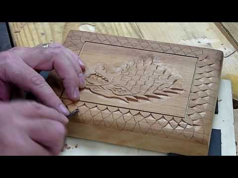Carving A Cigar Box - House Stark - Game of Thrones inspired