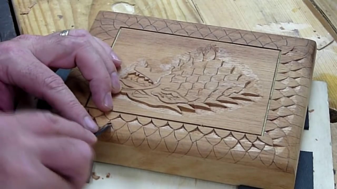 Carving a cigar box house stark game of thrones ins