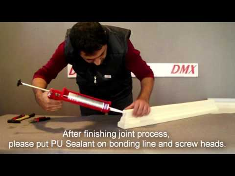 How to make corner in DMXELITE Polyurethane decorative facade elements?