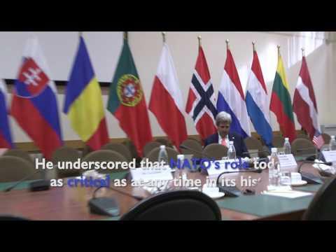 Secretary Kerry Gives Final Address to NATO