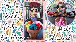 🇲🇽Mexican Table Centerpiece For Birthday / Baby Shower! Frida Kahlo Decoration and Placemat!