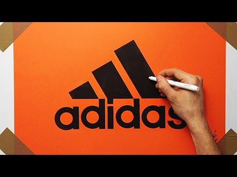 How to Draw the Adidas Logo On Orange Paper With Black Marker