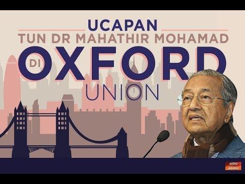 Ucapan dan dialog Tun Dr Mahathir di Oxford Union