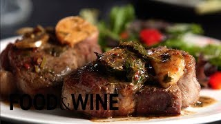 Recipe: Lamb Chops Sizzled with Garlic | Food & Wine