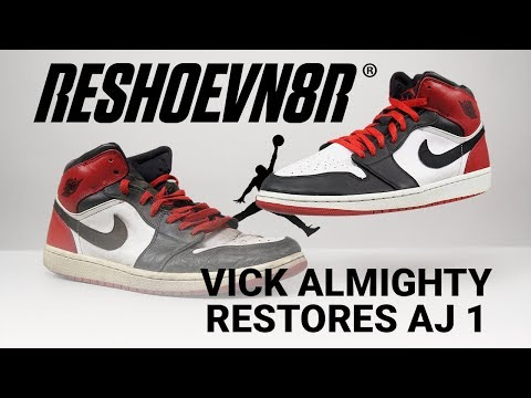 How To Restore Old Love Air Jordan 1 with Reshoevn8r! Featuring Vick Almighty.
