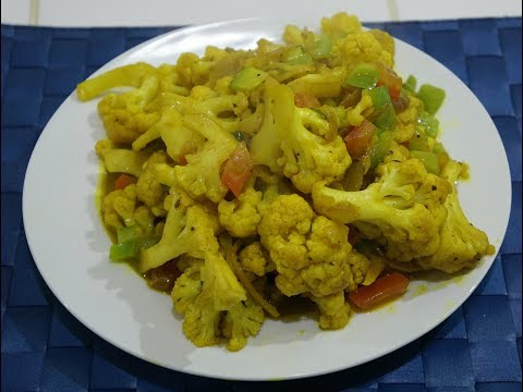 🍆🍅🇮🇳🇬🇧 Ginger Cauliflower Recipe Healthy Vegan Vegetarian