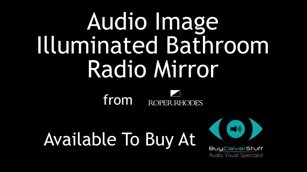 Audio Image Illuminated Bathroom Radio Mirror