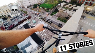 I RODE MY BIKE OFF THE EDGE OF A BUILDING