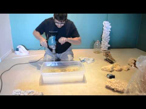 Aquascaping; Drilling your rock sculpture part 3