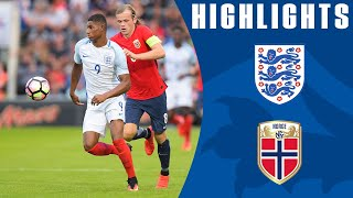 Marcus rashford made a dream debut for england under-21s, as his hat-trick helped the young lions to comfortable 6-1 victory over norway under-21s in engla...