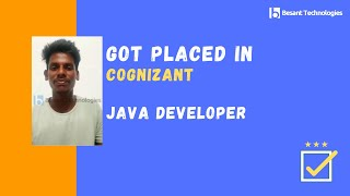 Success story of Fresher Student Mr.Elavarasan who Got Placed in Cognizant
