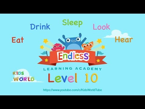 Endless Academy Lv 10, Best English Word Definition: Eat, Drink, Sleep, Look, Hear