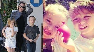 Angelina Jolie's Daughter Vivienne Jolie Pitt & Son Knox Jolie Pitt   HAPPY BIRTHDAY!! Twins