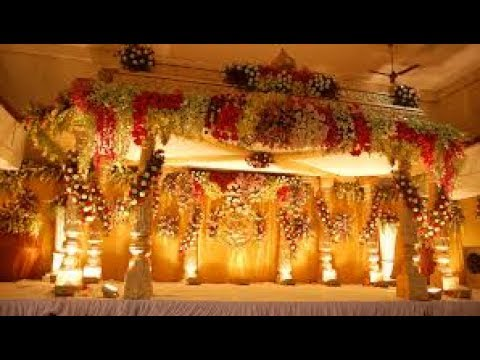 Wedding Stage Decoration With Flowers And Lights Youtube