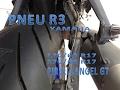 R3 PNEU 170/60 e 120/60 TIRE INSTALLATION YZF R3 PIRELLI ANGEL