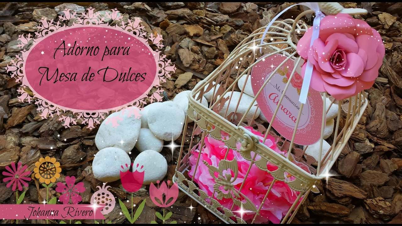 como decorar mesa de dulces scrapbook jaula decorativa