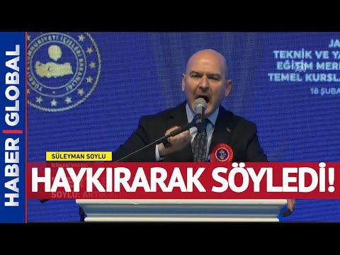 Süleyman Soylu Haykırarak Söyledi: Elinize Bakmayan, Namusuyla Yaşayan Bir Türkiye Var!