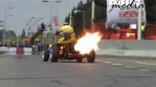 Jet-engine powered quad with Rolls Royce turbine
