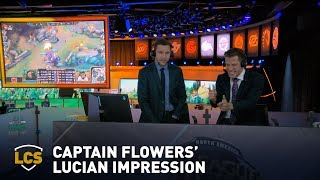 Captain Flowers Does His Best Lucian Impression