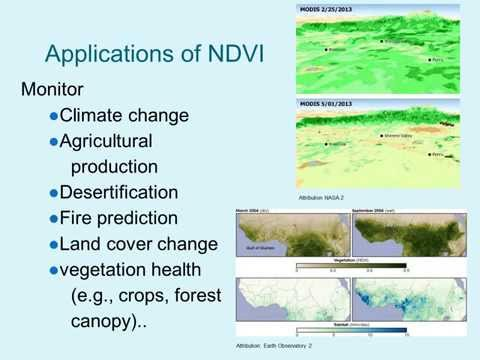 Image Analysis using NDVI to Assess Vegetation Greenness (iGETT-Remote Sensing)