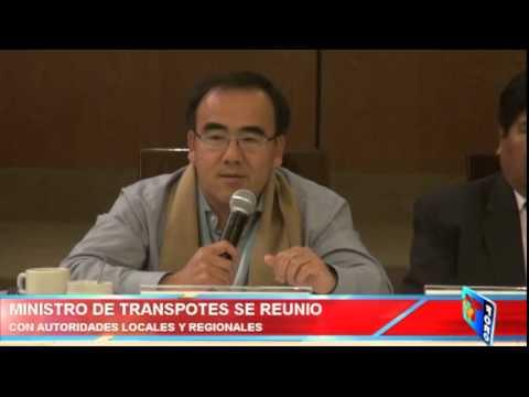 MINISTRO DE TRANSPORTES SE REUNIO CON AUTORIDADES LOCALES Y REGIONALES