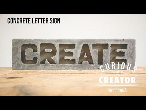 #9 Concrete Letter Sign - DIY Curious Creator