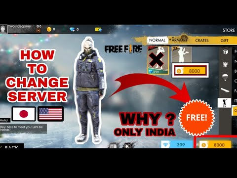 HOW TO CHANGE SERVER/FREE EMOTES #FREEFIRE
