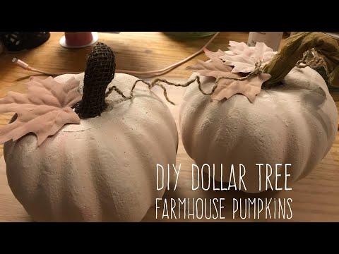 DIY Dollar Tree  Farmhouse Pumpkins