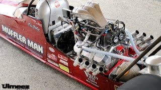 TOP DRAGSTERS IN THE STAGING LANES AT RT66