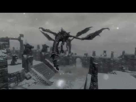 Skyrim Battles - Legendary Dragon vs Alduin !!! [Legendary