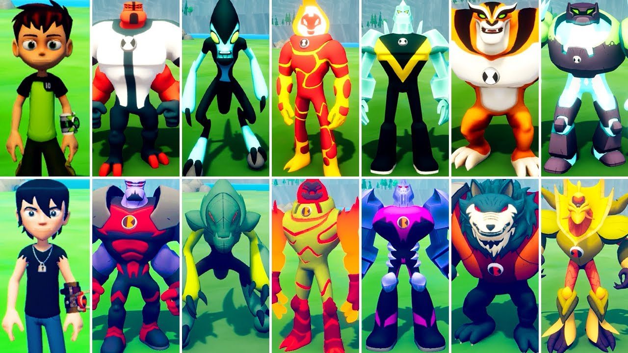 Ben 10 Power Trip All Ben 10 Kevin 11 Alien Transformations Cartoon Network Youtube