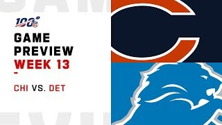 Chicago Bears vs Detroit Lions Week 13 NFL Game Preview