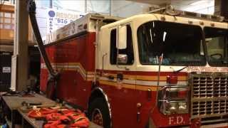 SUPER EXCLUSIVE - VISIT TO FDNY RESCUE 3 & FDNY COLLAPSE RESCUE 3 FIRE HOUSE IN THE BRONX, NEW YORK.