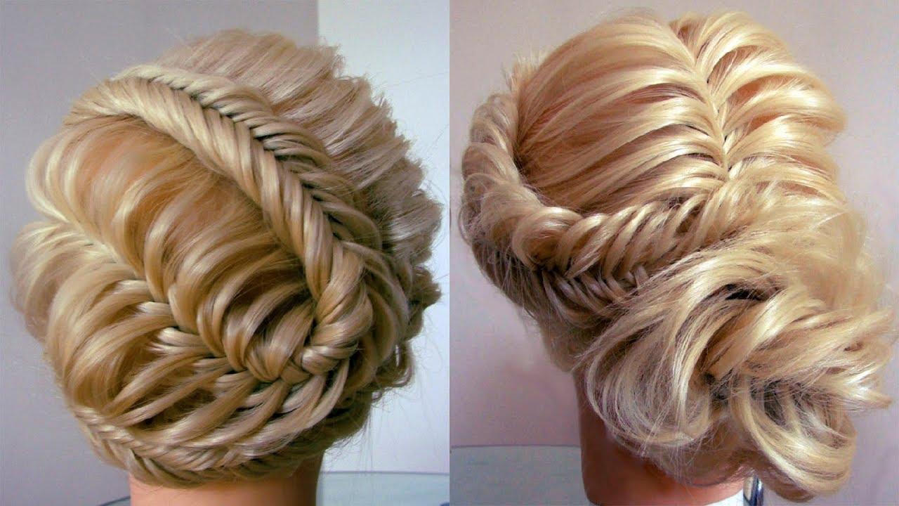 Две причёски из косы Рыбий хвост Летние плетения Peinado de trenzas Hair tutorial