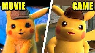 Pokémon Detective Pikachu Movie VS Game (Comparison)