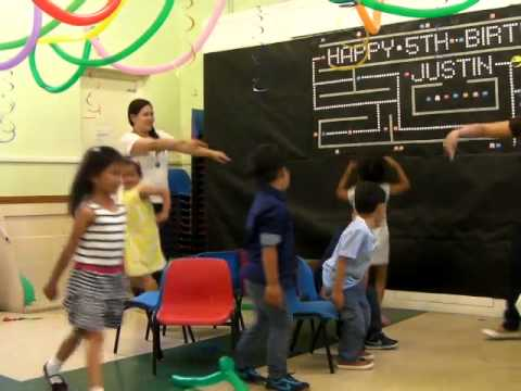 Kids Musical Chairs Game at Justins 5th