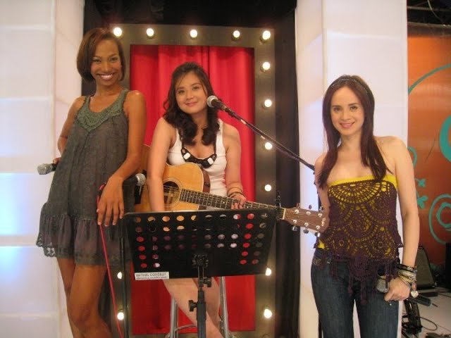 "Carmina Topacio singing ""Bad Romance"" on Sweet Life with Lucy Torres and Wilma Doesnt"