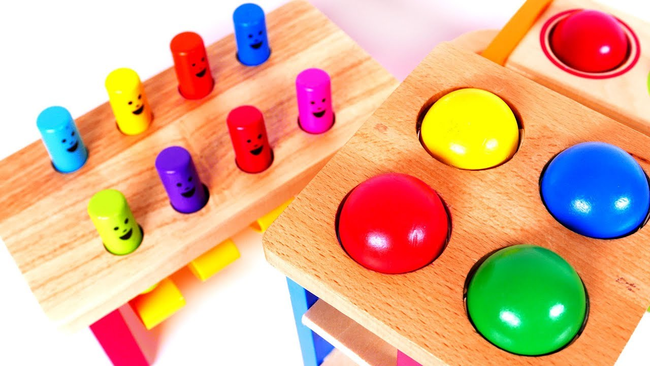 90d885390d89 Learn Colors with Fun Learning Pounding Table Toys for Kids - YouTube