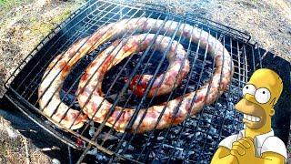 Домашня колбаса на мангале