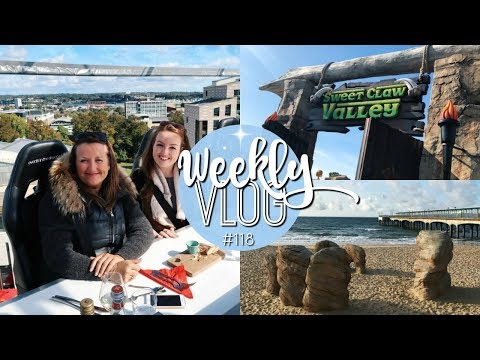 WEEKLY VLOG #118 | LUNCH IN THE SKY & MIGHTY CLAWS MINI GOLF! ♡ | Brogan Tate