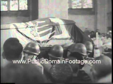 Konrad Adenauer Funeral 1967 newsreel archival footage