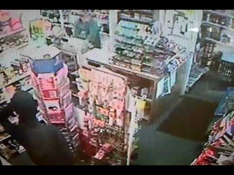 Cornwall Armed robber chased from shop