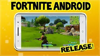 Fortnite Mobile On ANDROID Release DATE!
