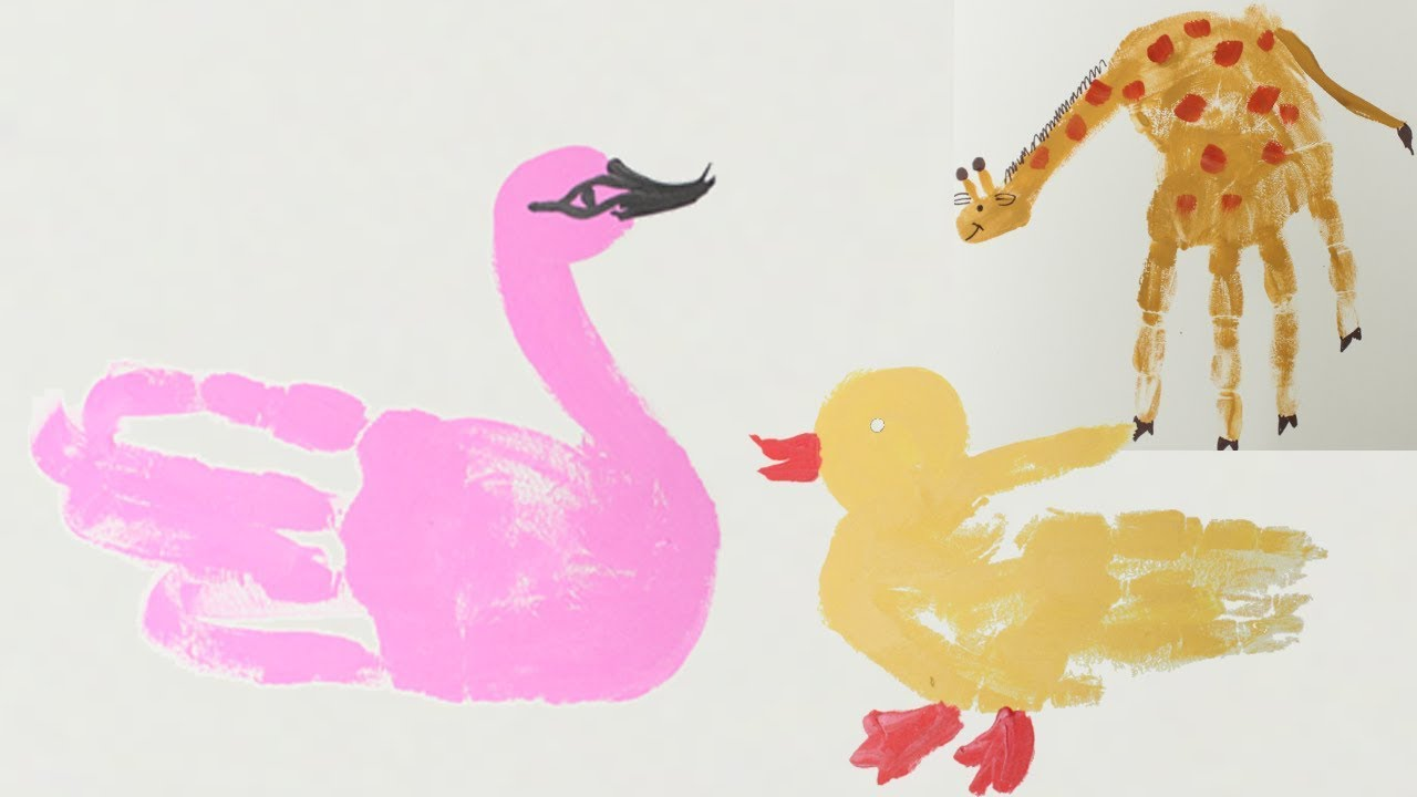 How To Make Hand Print Safari Animals Using Acrylic Paint Diy