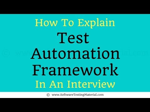 How To Explain Selenium Test Automation Framework In The Interview