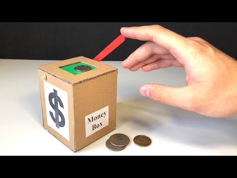 How to Make Coin Bank Box at Home
